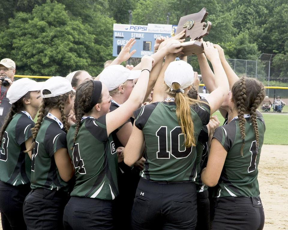 In the end, it was Grafton's softball team that held up the hardware after defeating Dracut for the Div. 2 title.