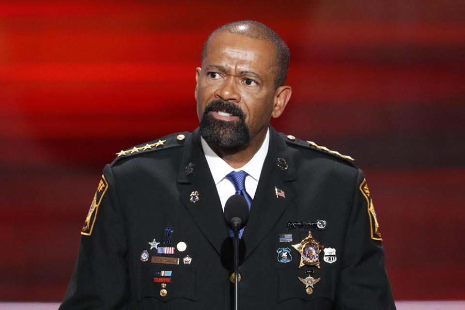 David Clarke at the 2016 Republican National Convention.