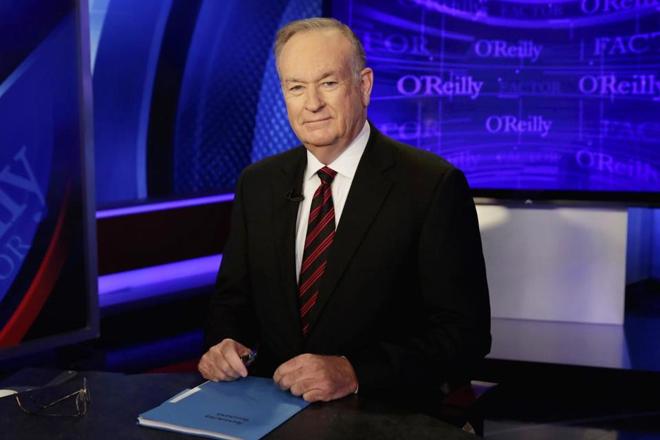 "Bill O'Reilly on the set of ""The O'Reilly Factor."""