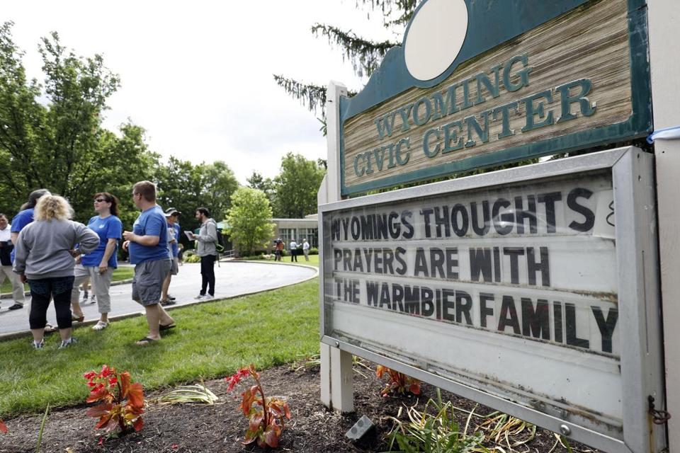WYOMING, OH - JUNE 15: Friends and supporters of Otto Warmbier, the 22-year-old college student who was released from a North Korean prison on Tuesday, gather together to show their support for the Warmbier family June 15, 2017 in Wyoming, Ohio. Otto Warmbier spent 17 months in a North Korean prison after being sentenced to 15 years for allegedly attempting to steal a propaganda poster. Warmbier is currently in a coma at the University of Cincinnati Medical Center. (Photo by )