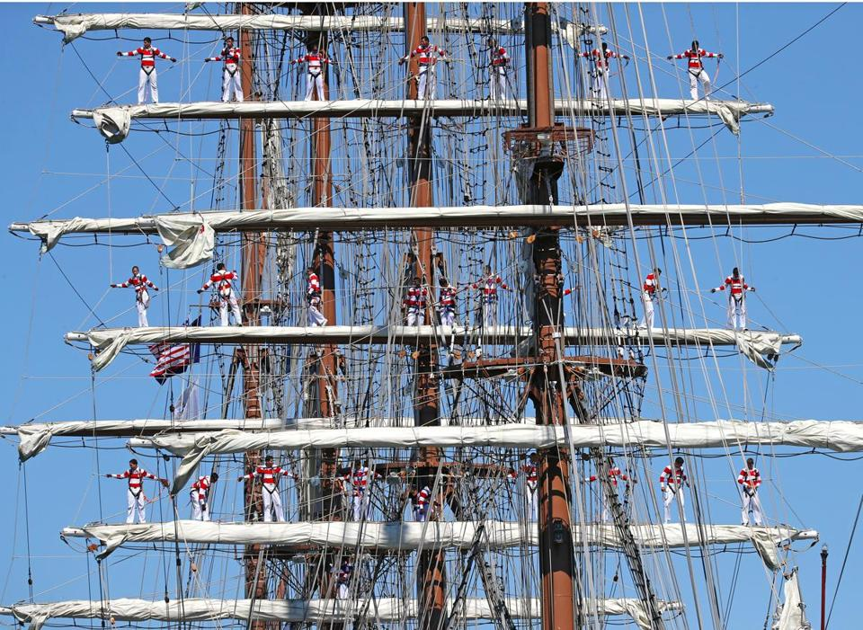 The crew of the Peruvian Navy Tall Ship Union was on its way.