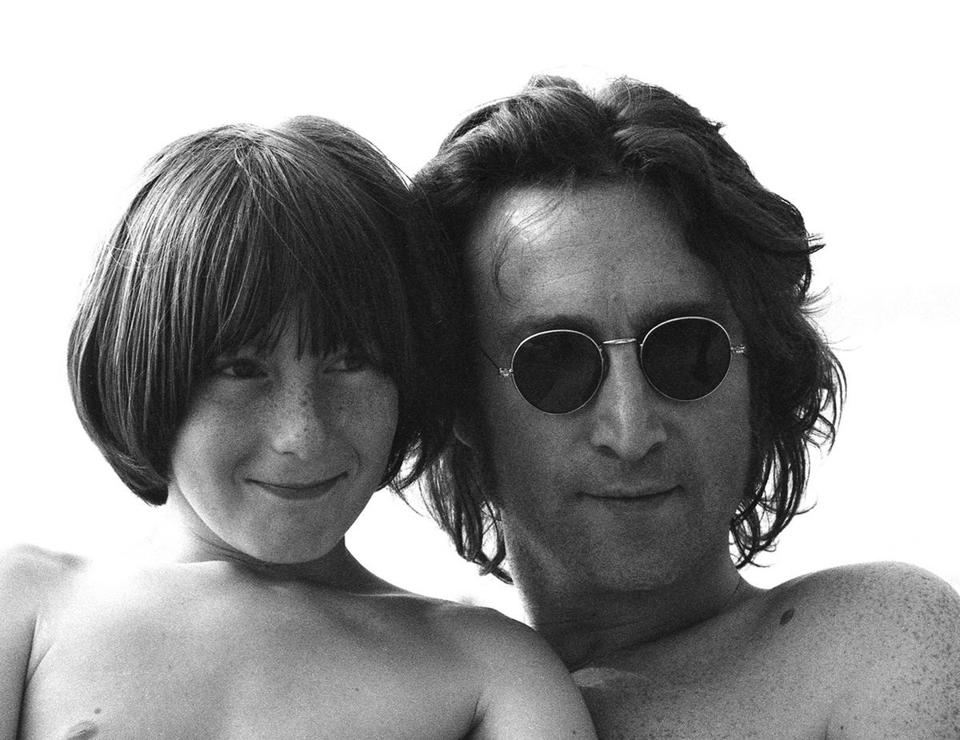 John Lennon with son Julian.