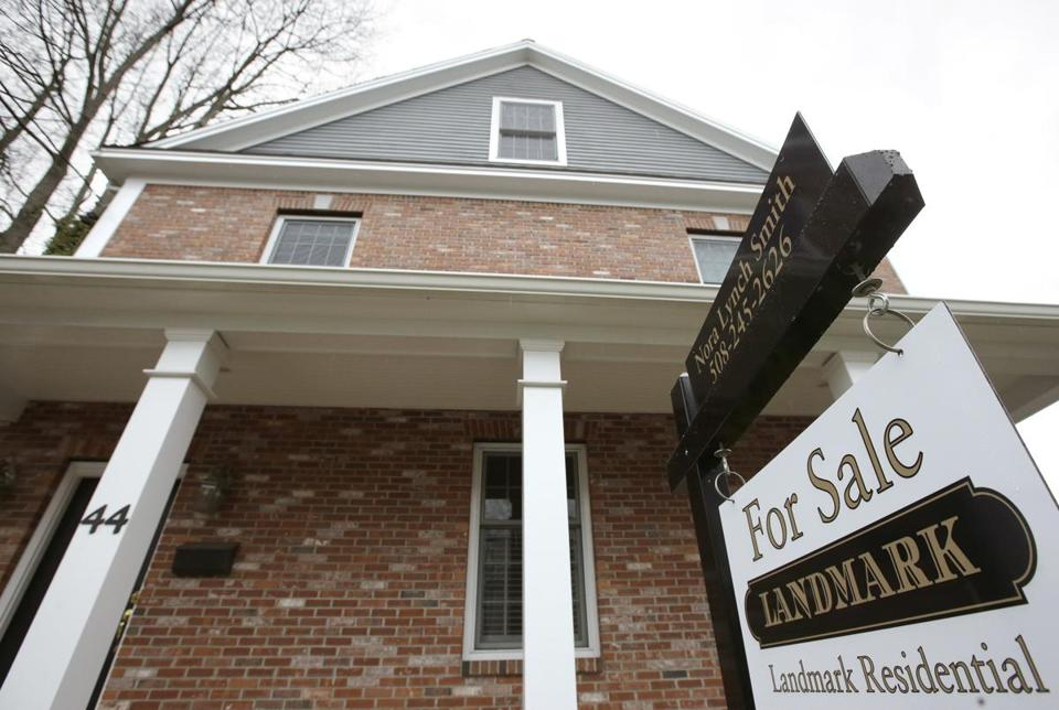 A home was marked for sale in Natick in April.