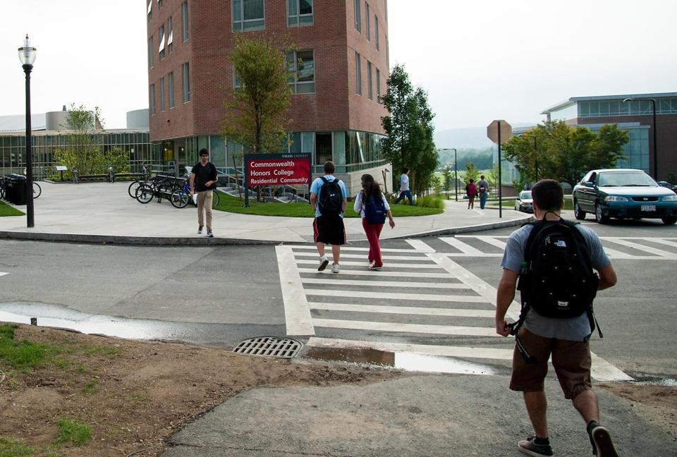 Umass Amherst Police doled out 11,554 violations between 2010 and 2015, many of them for incidents involving pedestrian traffic.