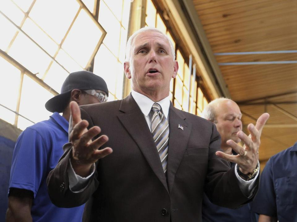 Vice President Mike Pence addressed supporters last week during a visit to discuss health care at a roundtable at Tendon Manufacturing in Bedford, Ohio.