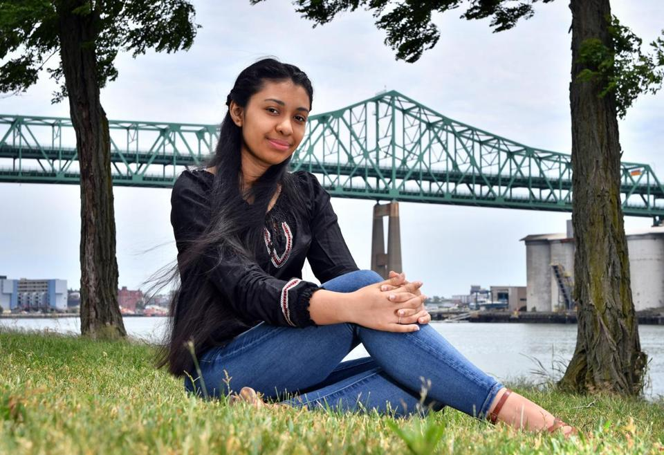 Chelsea High graduate Elsy Sanchez, 18, is in the Summer Search mentoring program, which aims to help students from Chelsea and Malden to be successful in college and to return and give back to their community . Josh Reynolds for The Boston Globe (Region, Greenstein)