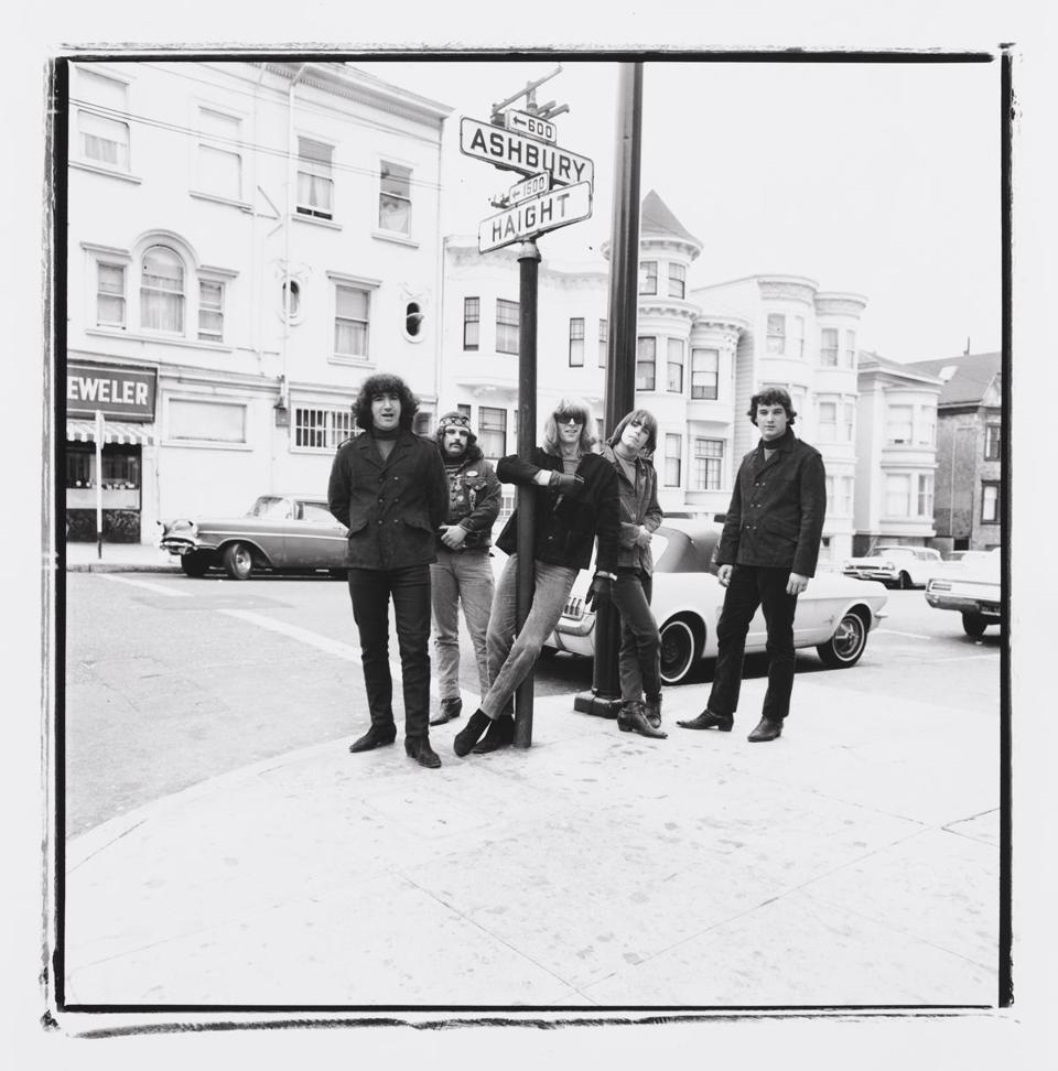 "A photo of the Grateful Dead from Herb Greene's ""Brief Encounters With the Dead."""
