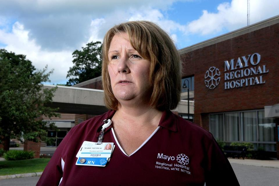 Marie Vienneau, president of Mayo Regional Hospital, recently let go the facility's only pediatrician.