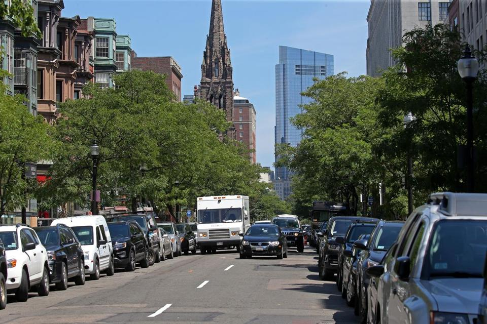 Parking apps have been of limited benefit to drivers looking for open spaces in congested areas like Boston's Newbury Street.