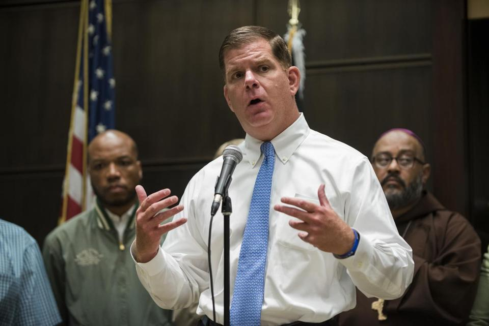 Mayor Martin J. Walsh addressed reporters during a press briefing Friday following a particularly violent Fourth of July holiday.