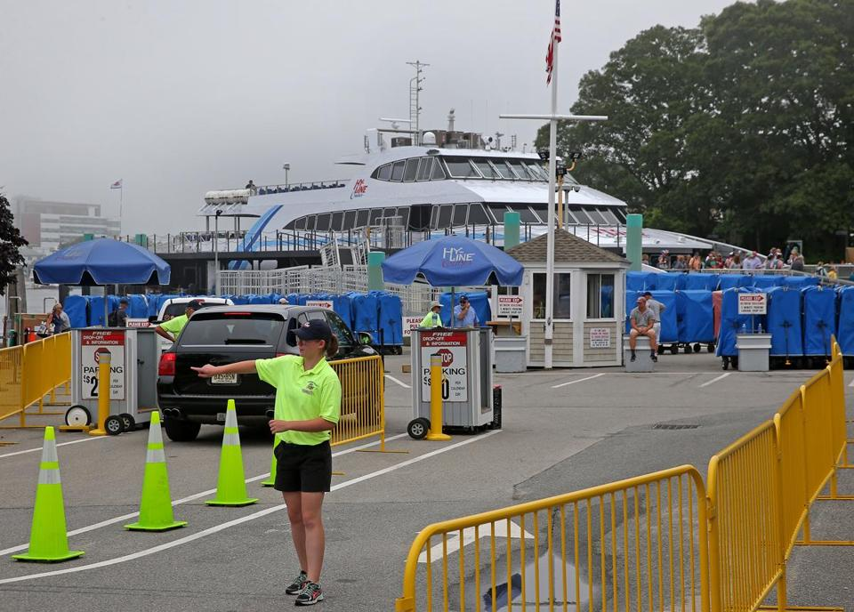 Most of the 65 people employed in summer jobs at the Hy-Line parking lot in Hyannis are retired men.