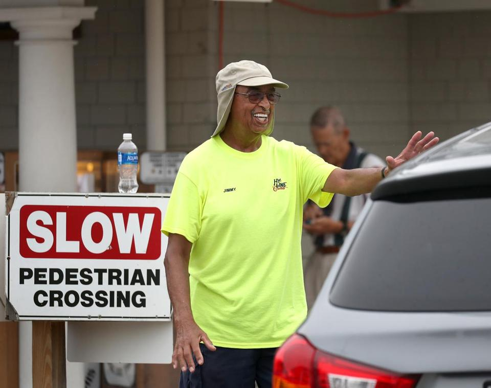 James Mendes was once a landscaping business owner; now he helps out at the parking lot for the Hy-Line ferry in Hyannis, where a wide variety of backgrounds are represented.