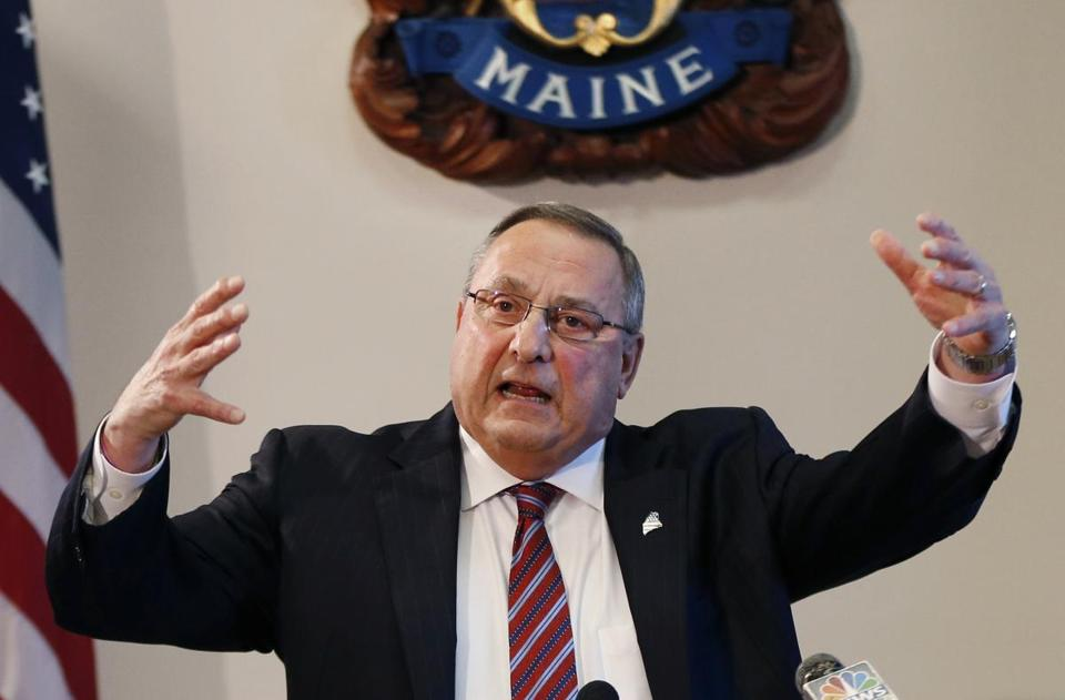 """I am the most hated person in the media,"" Maine Governor Paul LePage said. ""Yeah, I'm fine with that."""