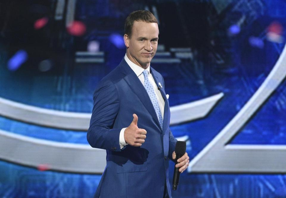 Peyton Manning hosted the 25th ESPYs in Los Angeles Wednesday night.