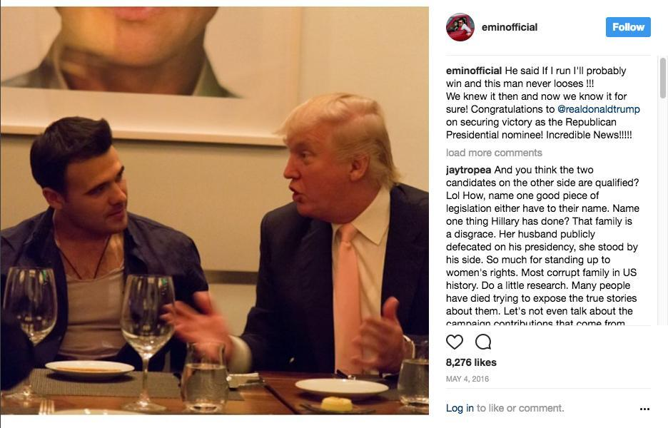 Emin Agalarov and Donald Trump.