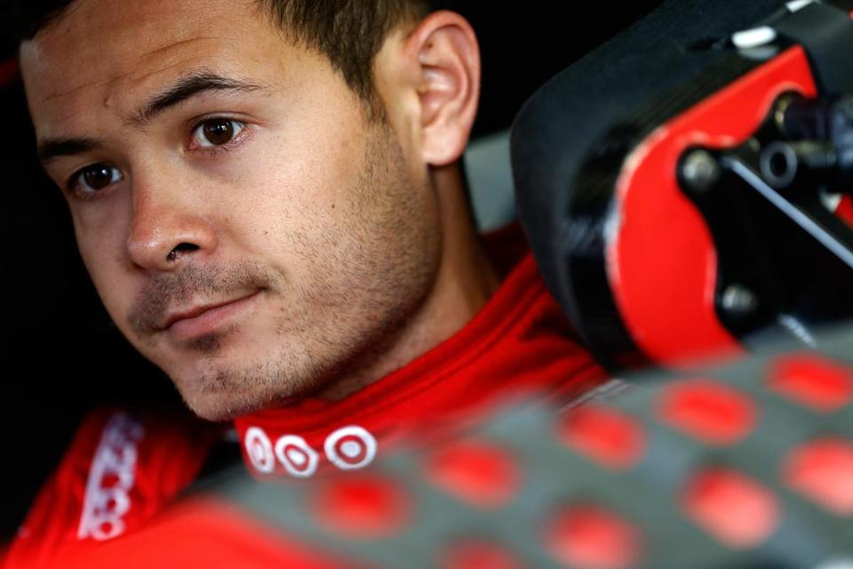 LOUDON, NH - JULY 14: Kyle Larson, driver of the #42 Target Chevrolet, sits in his car during practice for the Monster Energy NASCAR Cup Series Overton's 301 at New Hampshire Motor Speedway on July 14, 2017 in Loudon, New Hampshire. (Photo by Jeff Zelevansky/Getty Images)