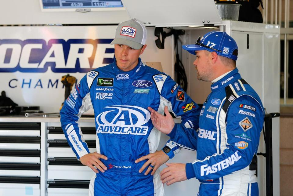 Trevor Bayne (left) and Ricky Stenhouse Jr. are the only drivers for Roush Fenway on the Monster Energy Cup circuit this season.