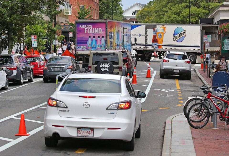 In Cambridge A New Bike Lane And A Plea For Gulp Patience On