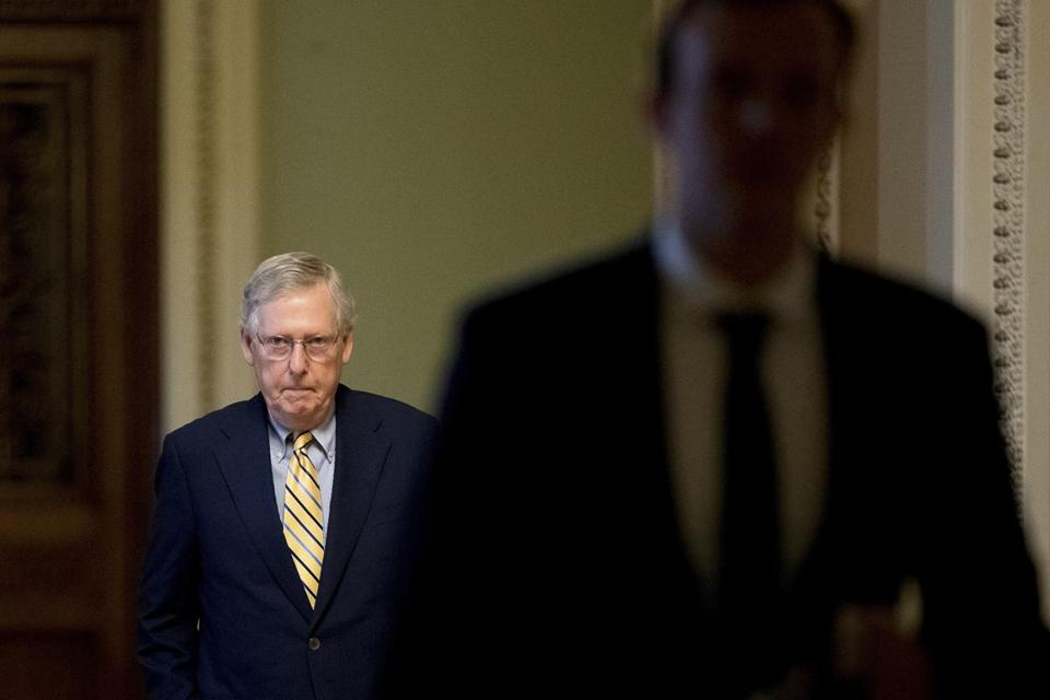 Senate Majority Leader Mitch McConnell on Capitol Hill Monday.