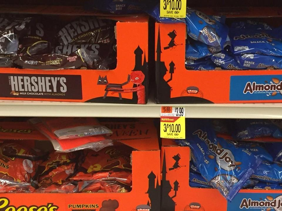 Halloween candy is already appearing on some supermarket shelves around Boston -- in July.