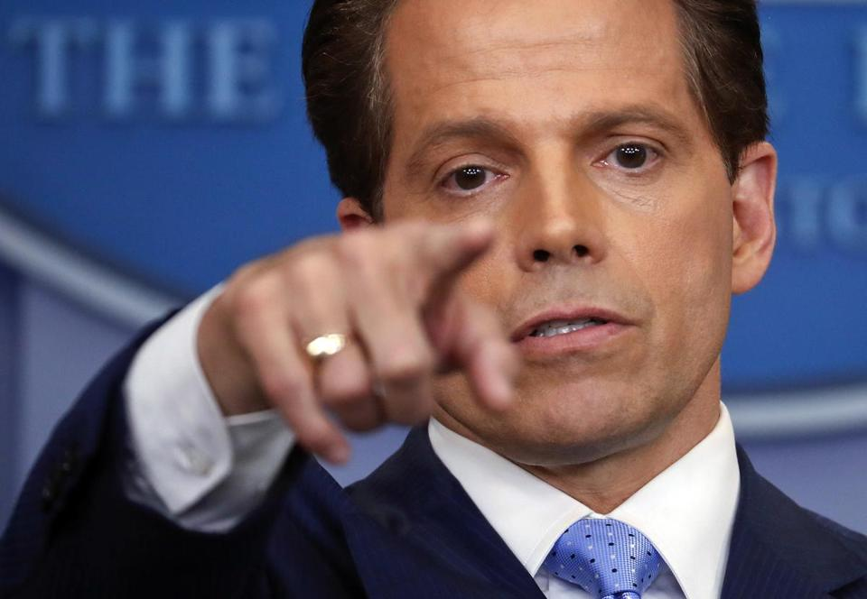 Anthony Scaramucci during a July 21 press briefing at the White House.