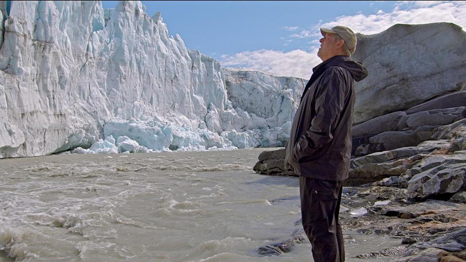 "Al Gore in Greenland in a scene from ""An Inconvenient Sequel."""