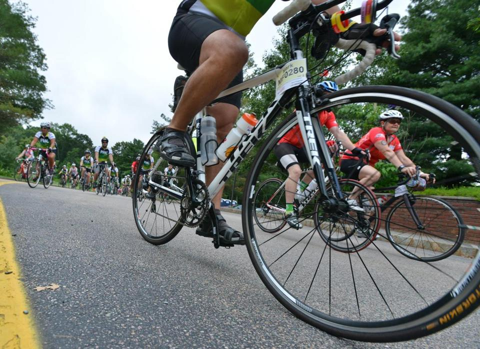 Riders traveled through Wellesley.