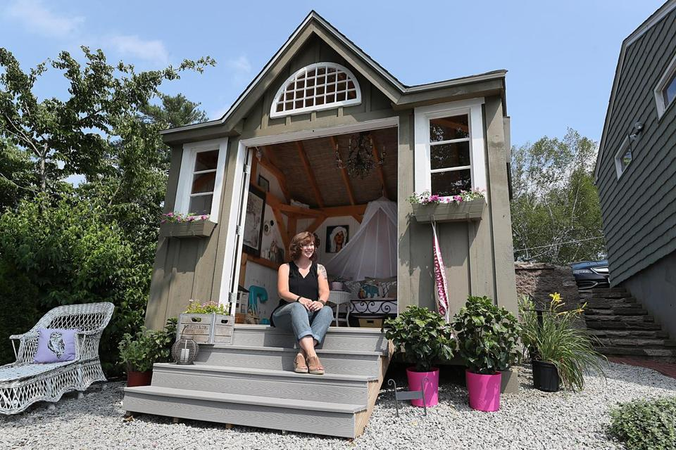 "In Webster, Laureen Clauson got her she shed after watching an HGTV show and thinking, ""I'd love one of those."""