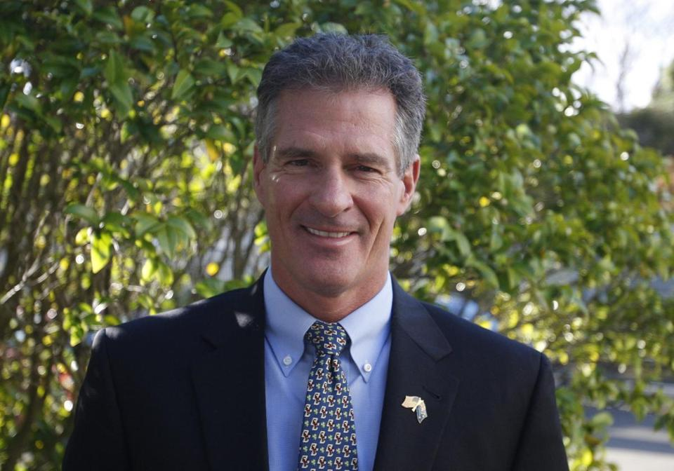 Scott Brown, the U.S. ambassador in New Zealand, poses for a photograph at the U.S. Embassy.