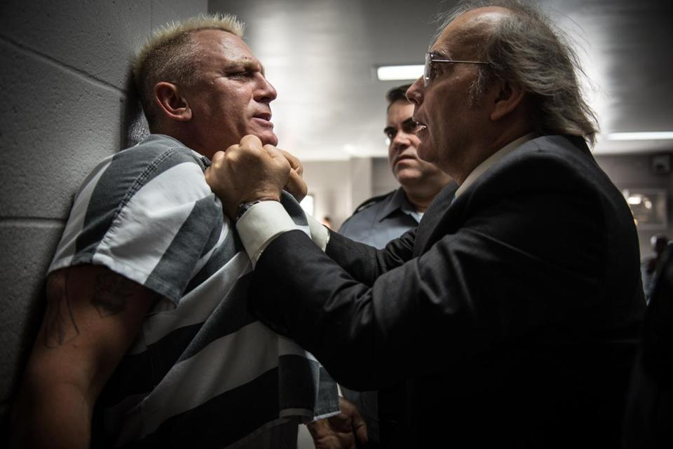"Daniel Craig (left) and Dwight Yoakam in ""Logan Lucky."""