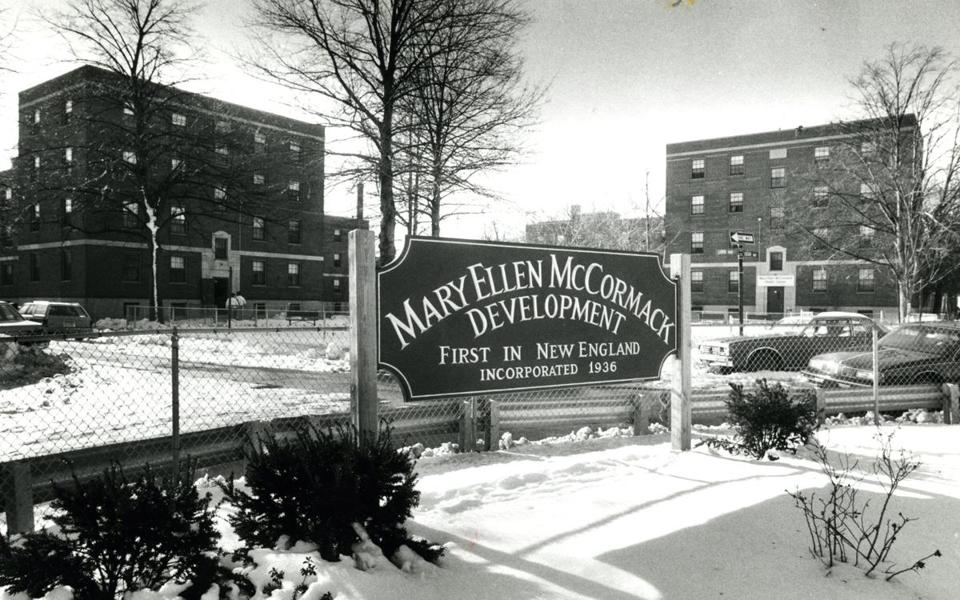 Mary Ellen McCormack Housing project in February 1988.