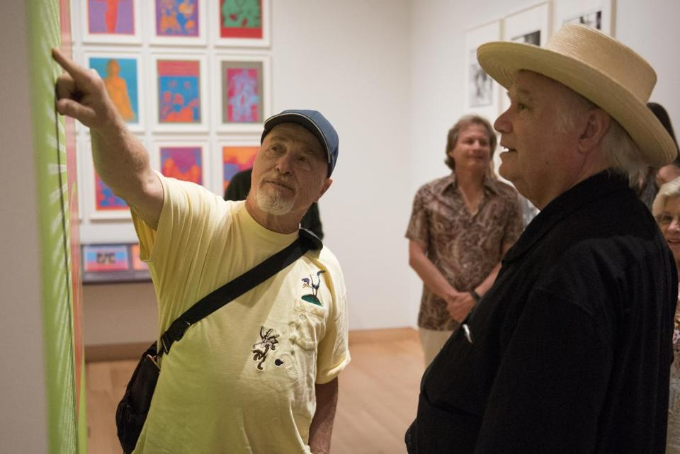 David Getz (left) and Peter Albin (right) of Big Brother & The Holding Company at the Museum of Fine Arts on Friday.