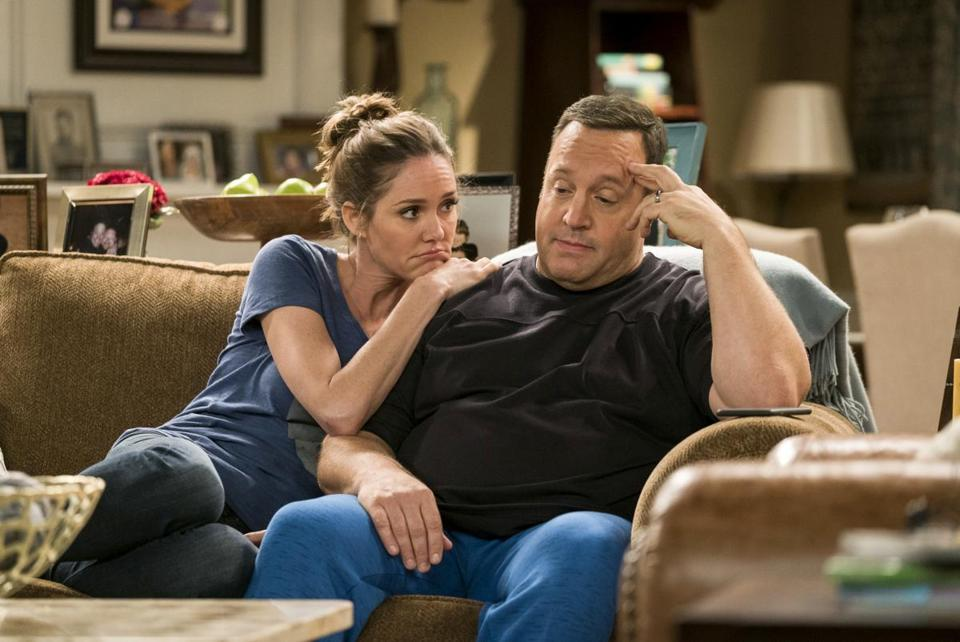 "Erinn Hayes and Kevin James on an episode of ""Kevin Can Wait"" during its first season,"
