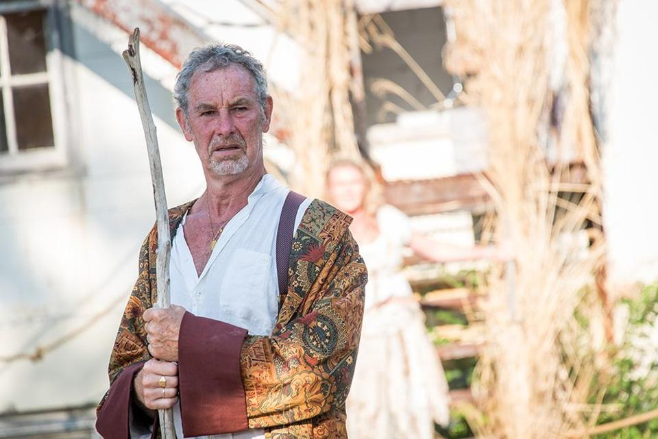 "Nigel Gore portrays Prospero in ""The Tempest"" at Shakespeare & Company."