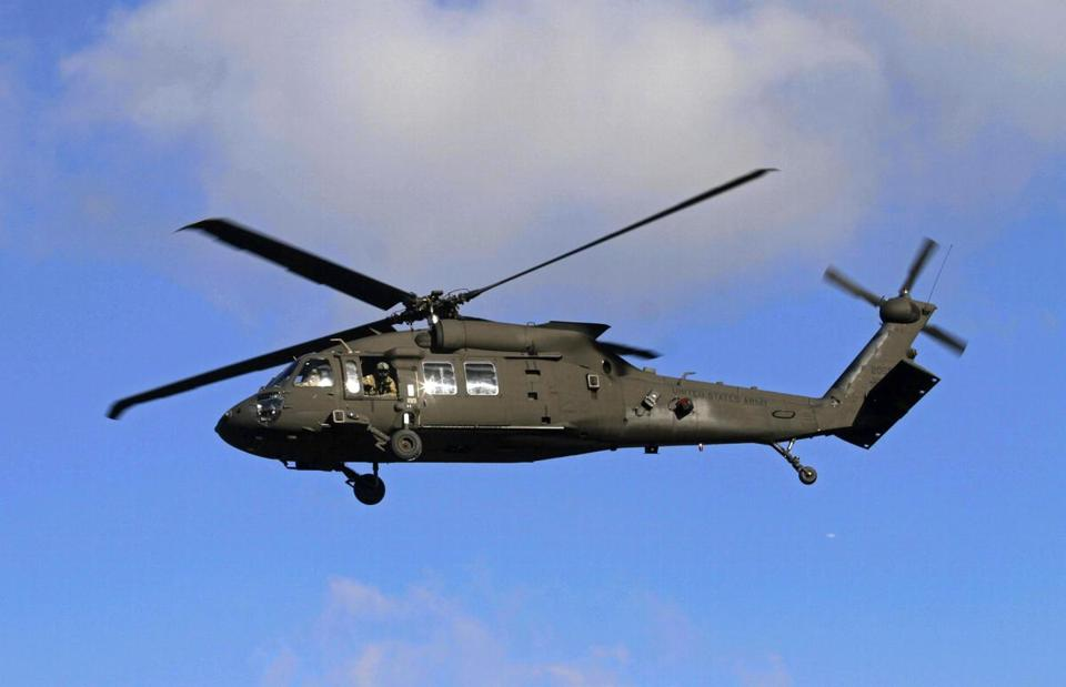 A US Army Black Hawk helicopter.