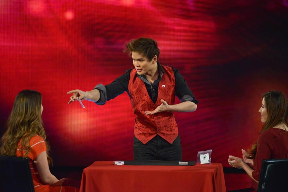 "The CW television show Penn & Teller: Fool Us (Season 2) -- ""The Invisi-Ball Thread"" -- Pictured: Shin Lim -- Photo: Jacob Kepler/The CW -- (c) 2015 The CW Network, LLC. All Rights Reserved"