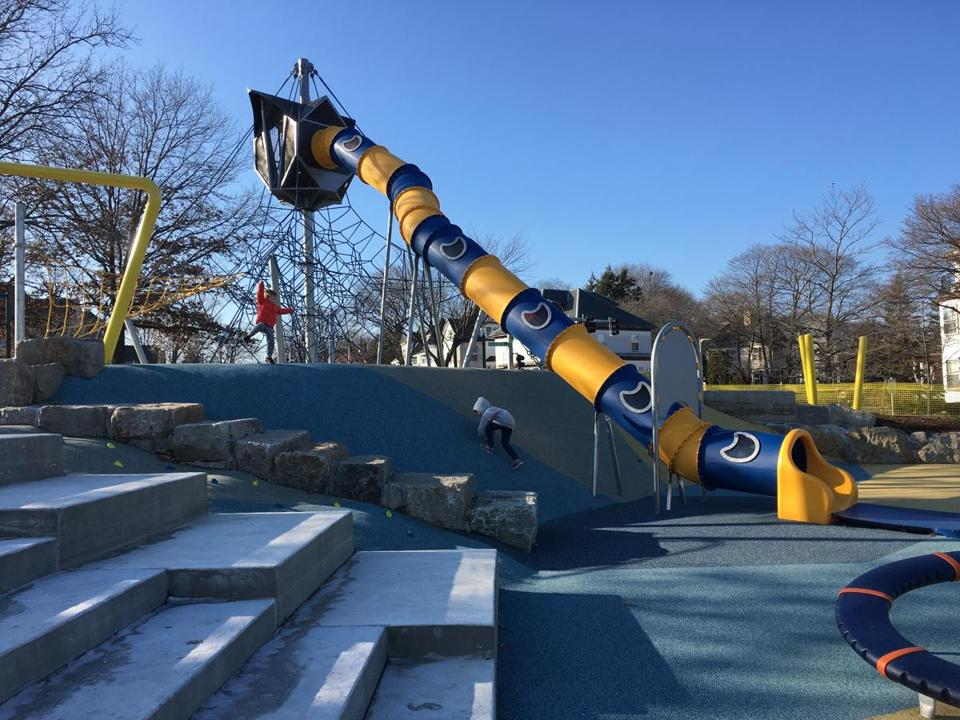 The slide at Fallon Playground.