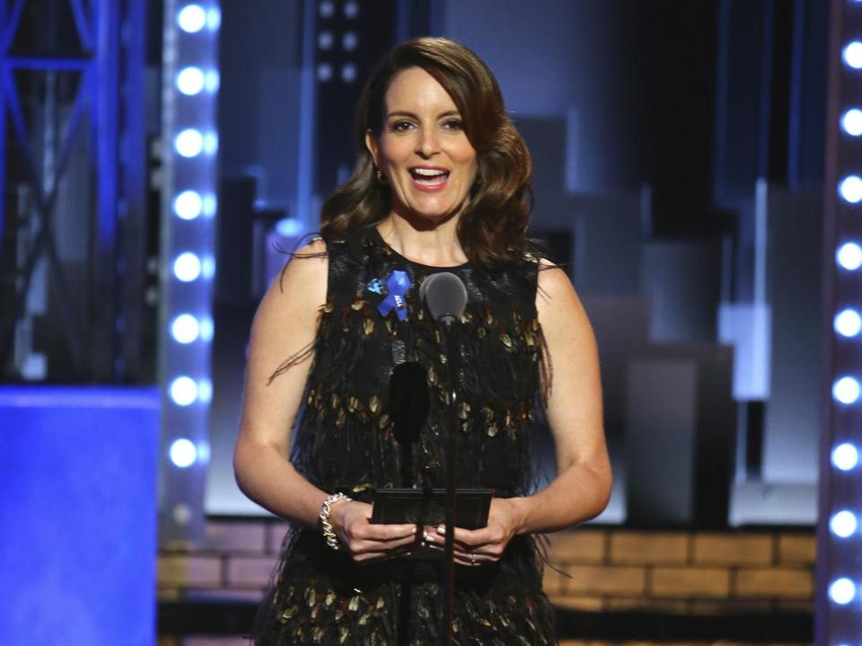 Tina Fey presents an award at the 71st annual Tony Awards in June.