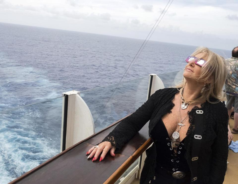"""Total Eclipse of the Heart"" singer Bonnie Tyler watched the eclipse."