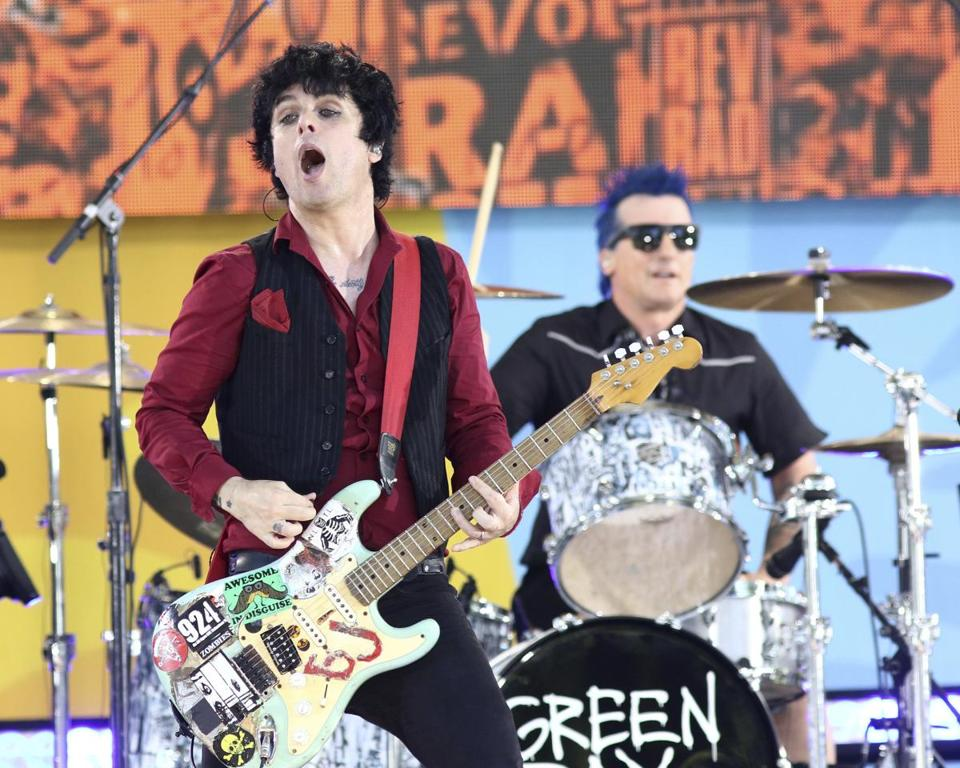 Green Day plays the Xfinity Center in Mansfield on Aug. 28.