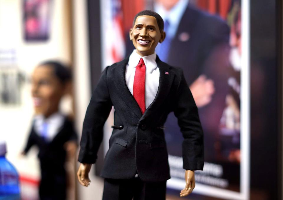 Mansfield-8/23/17 The National Black Doll Museum is in Mansfield with over 6,000 dolls of color. An Obama doll. John Tlumacki/Globe Staff(south)