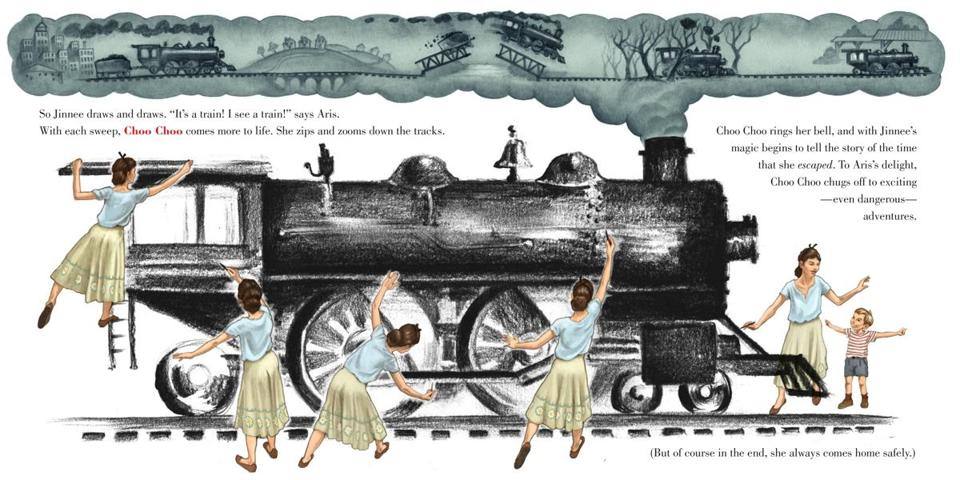 "An illustration from ""Big Machines: The Story of Virginia Lee Burton.''"