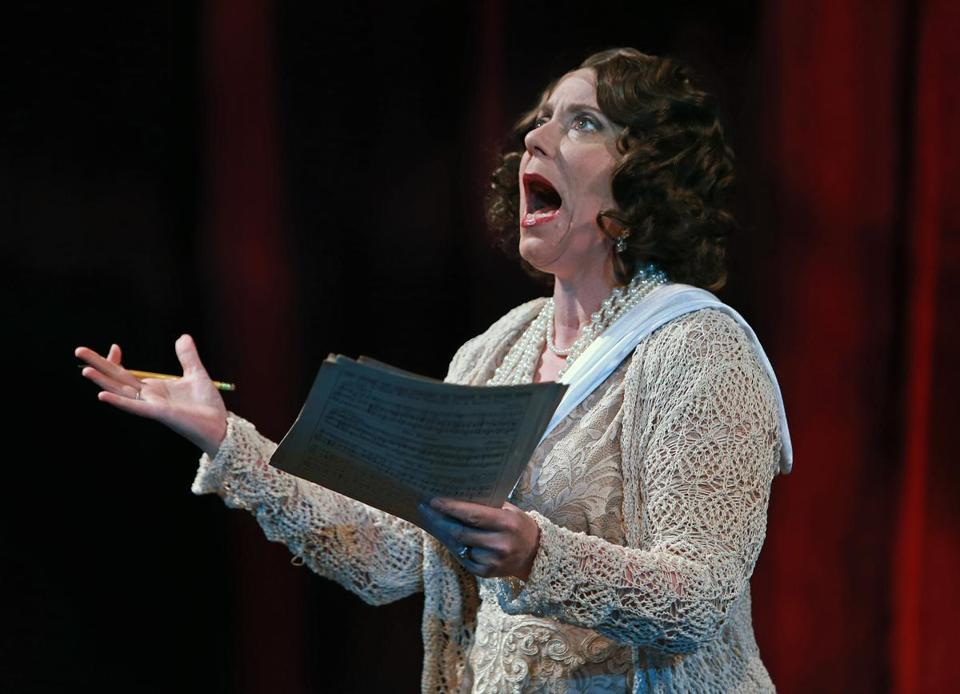 "Leigh Barrett as Mama Rose during a rehearsal of ""Gypsy"" at the Lyric Stage."