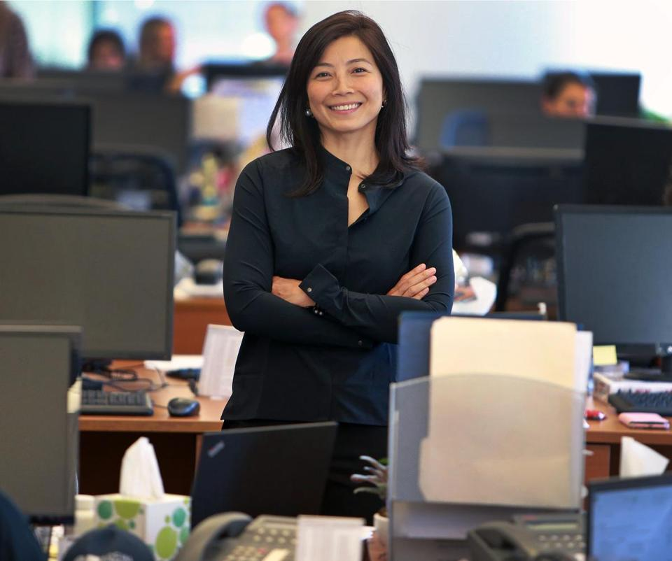 Boston, MA: August 30, 2017: Tracy Palandjian, the CEO and Founder of Social Finance is pictured in the company's office. (Jim Davis/Globe Staff).