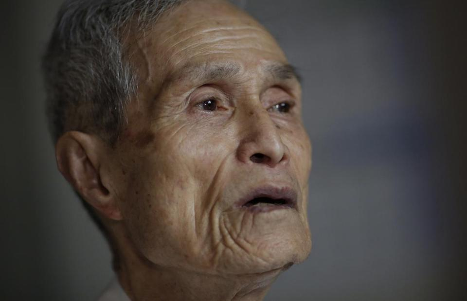 Sumiteru Taniguchi, a survivor of the 1945 atomic bombing of Nagasaki, spoke about his experience in 2015.