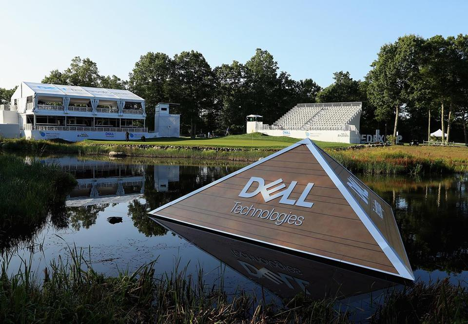 NORTON, MA - AUGUST 31: A general view of the 16th hole during practice for the Dell Technologies Championship on August 31, 2017 in Norton, Massachusetts. (Photo by Andrew Redington/Getty Images)