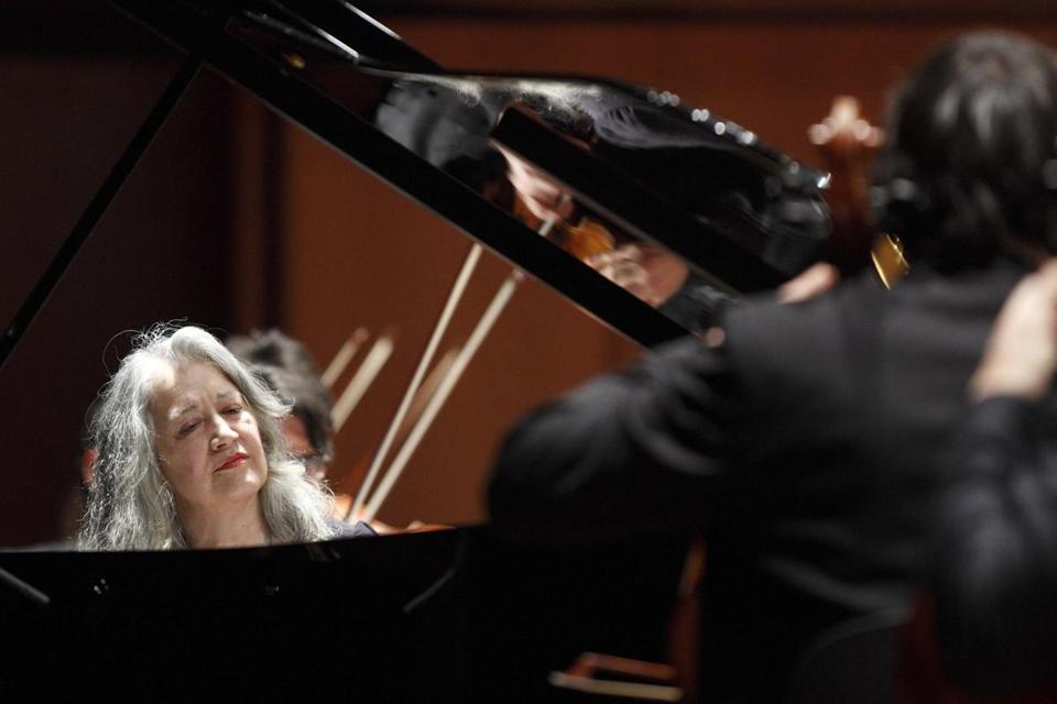 Pianist Martha Argerich, who performed with the Orchestra dell'Accademia Nazionale di Santa Cecilia of Rome.