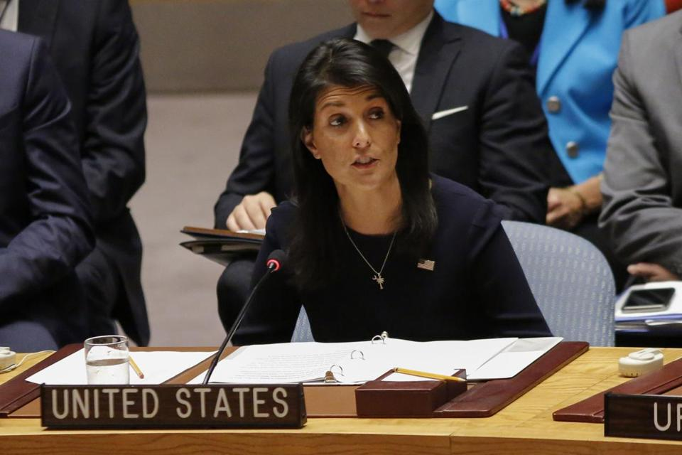 United States Ambassador to the United Nations Nikki Haley spoke Monday during a UN Security Council emergency meeting over North Korea's latest missile launch.