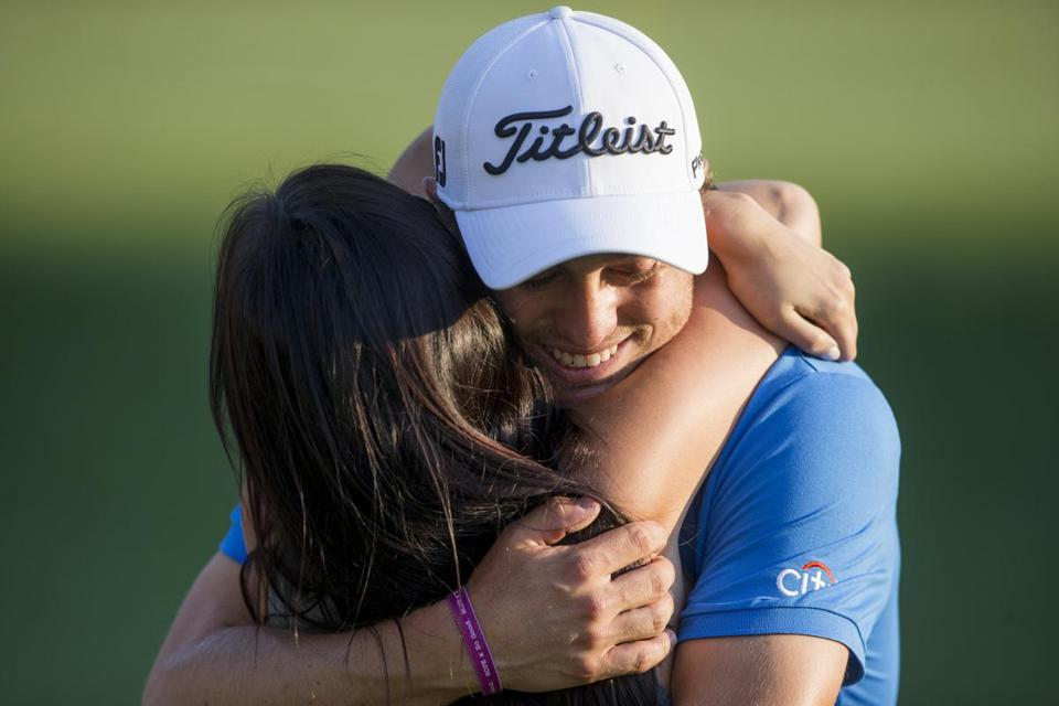 Justin Thomas embraced his girlfriend — and the Dell victory.