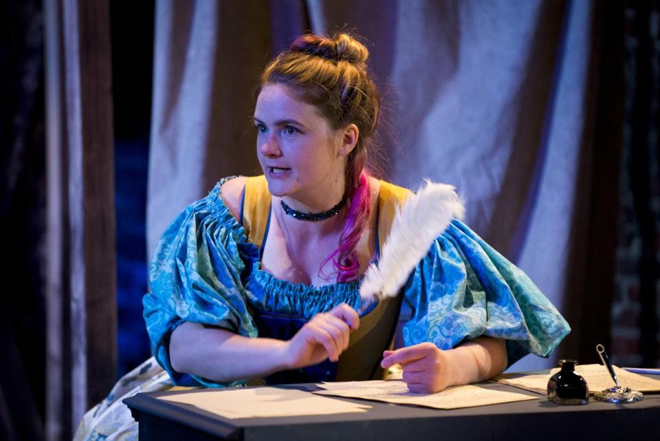 "Anna Waldron (above) rehearses a scene from ""Or,"", a co-production of theater companies Simple Machine and Maiden Phoenix."